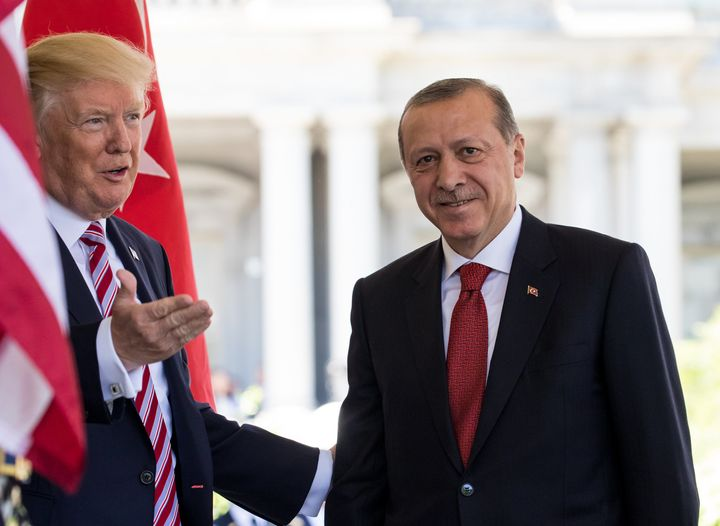 President Trump welcomed Turkish President Erdogan on May 16, 2017.