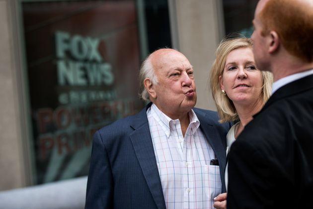 Roger Ailes leaves the New Corp building in New York City, July 19,