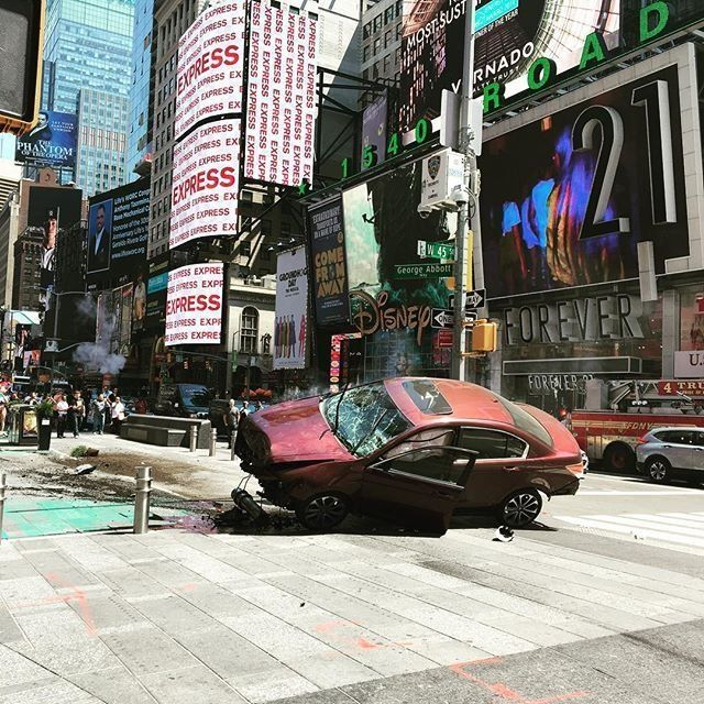 The car that ran into pedestrians in Times Square on Thursday May 18 2017