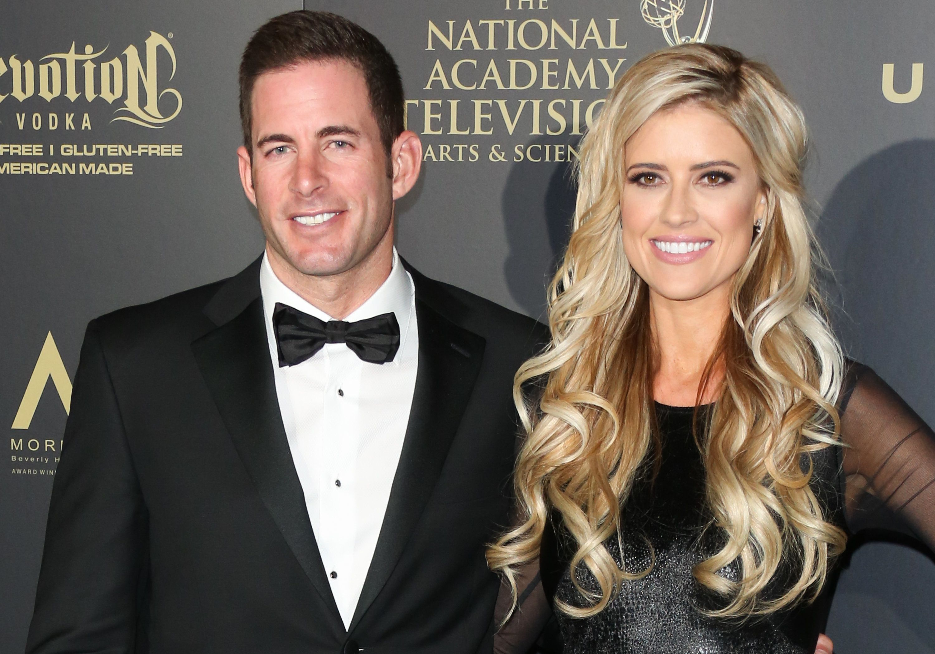 Tarek Christina El Moussa attend the press room for the 44th annual Daytime Emmy Awards on April 30 in Pasadena, California.