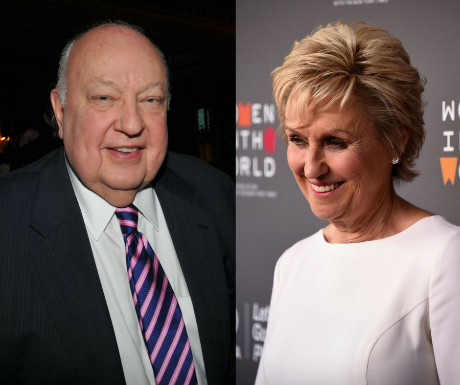 Roger Ailes and Tina Brown