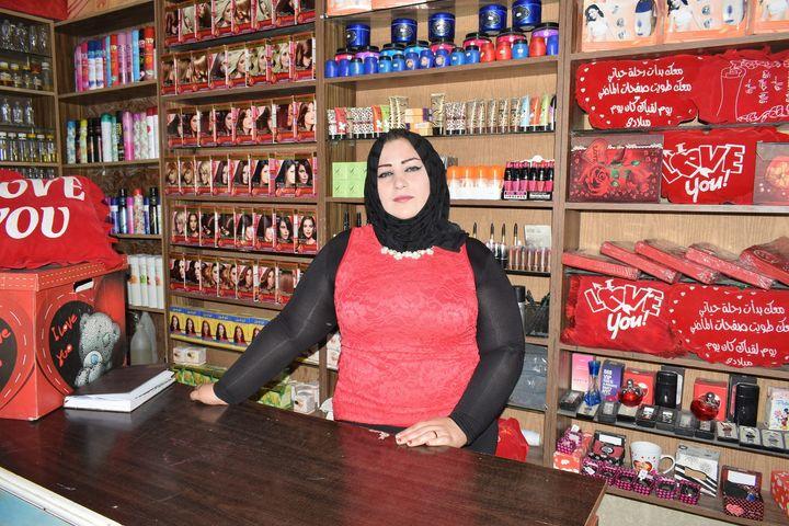 Hanan, an UNRWA microfinance recipient at Jaramana camp in the Syrian capital of  Damascus.