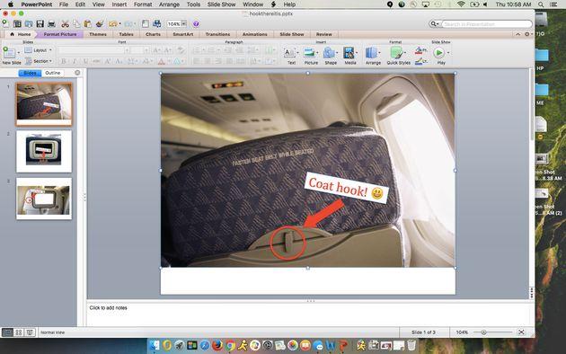 飛行機の座席についている小さなフック、何のためにあるか知ってる?