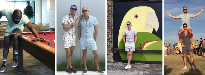 These men aren't just wearing jumpsuits -- they're wearing&nbsp;<i>RompHims.</i>
