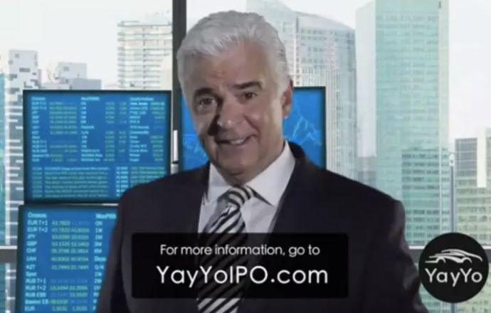Actor John O'Hurley appears in an ad for YayYo, a ride-sharing app that promises to compare the prices of different ride-shar