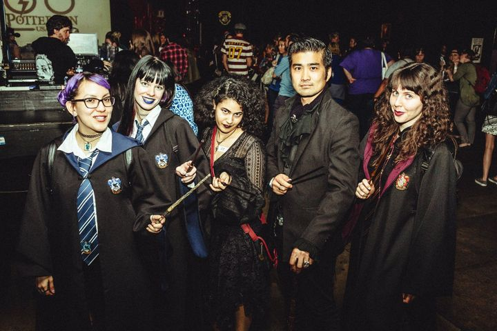 Fans brandish their wands at this year's Los Angeles PotterCon, which was held on March 18.