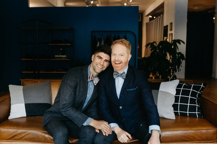 """Modern Family"" star Jesse Tyler Ferguson (right) and Justin Mikita were married in July 2013."