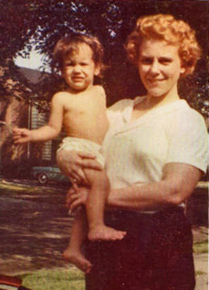 Viola Liuzzo holding daughter Sally.
