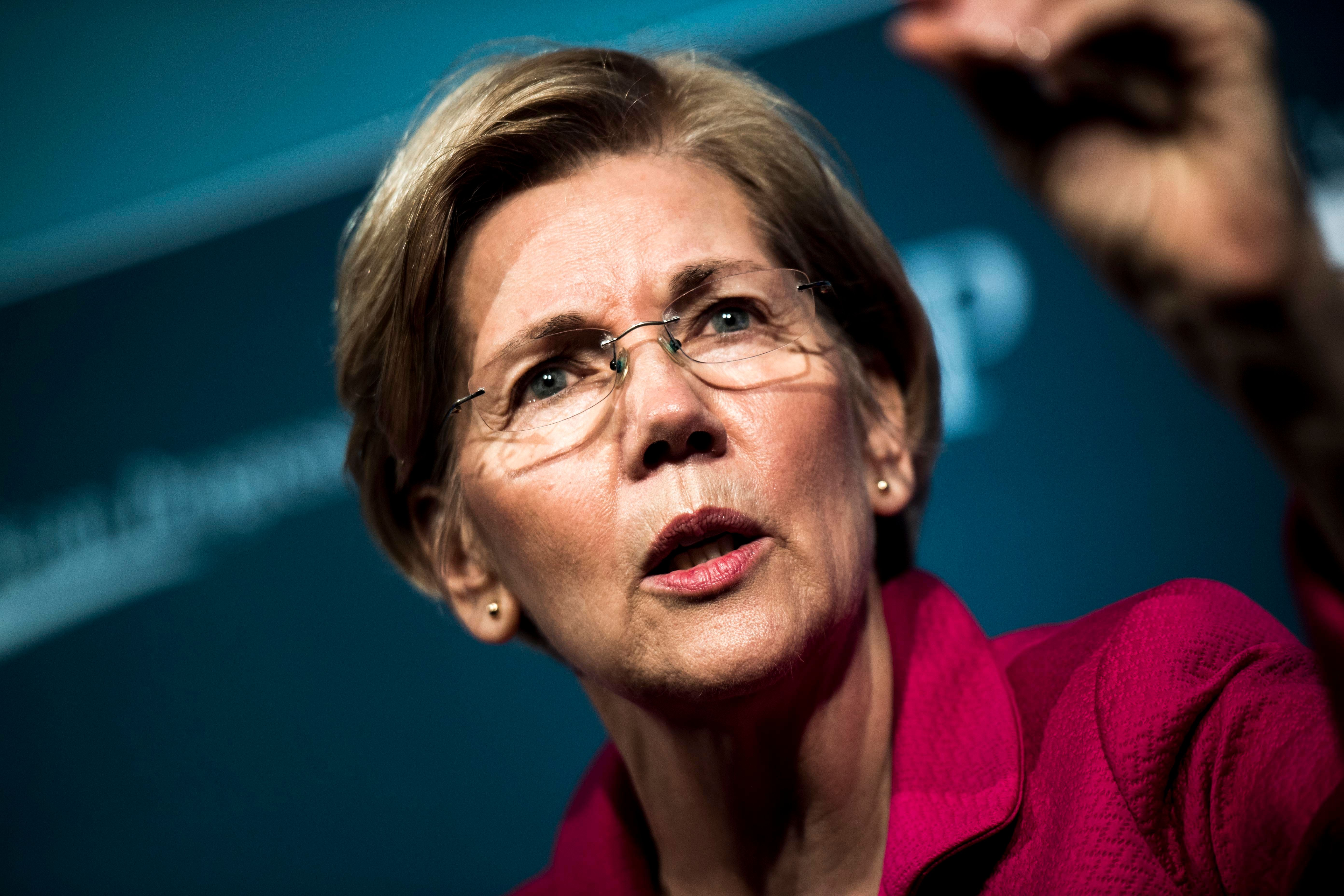 Sen. Elizabeth Warren (D-Mass.) is open to impeaching President Donald Trump if proof emerges that the worst allegations agai