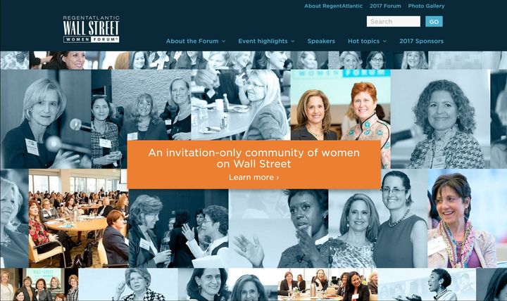 <p>Wall Street Women Forum home page</p>