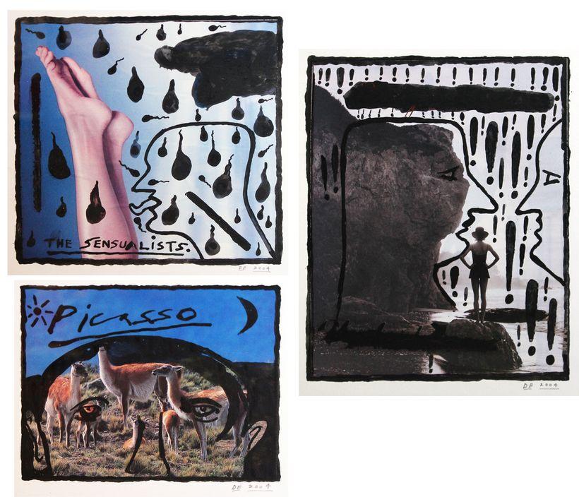 Derek Boshier: Picasso; The Sensualists; The Gossip, 2004