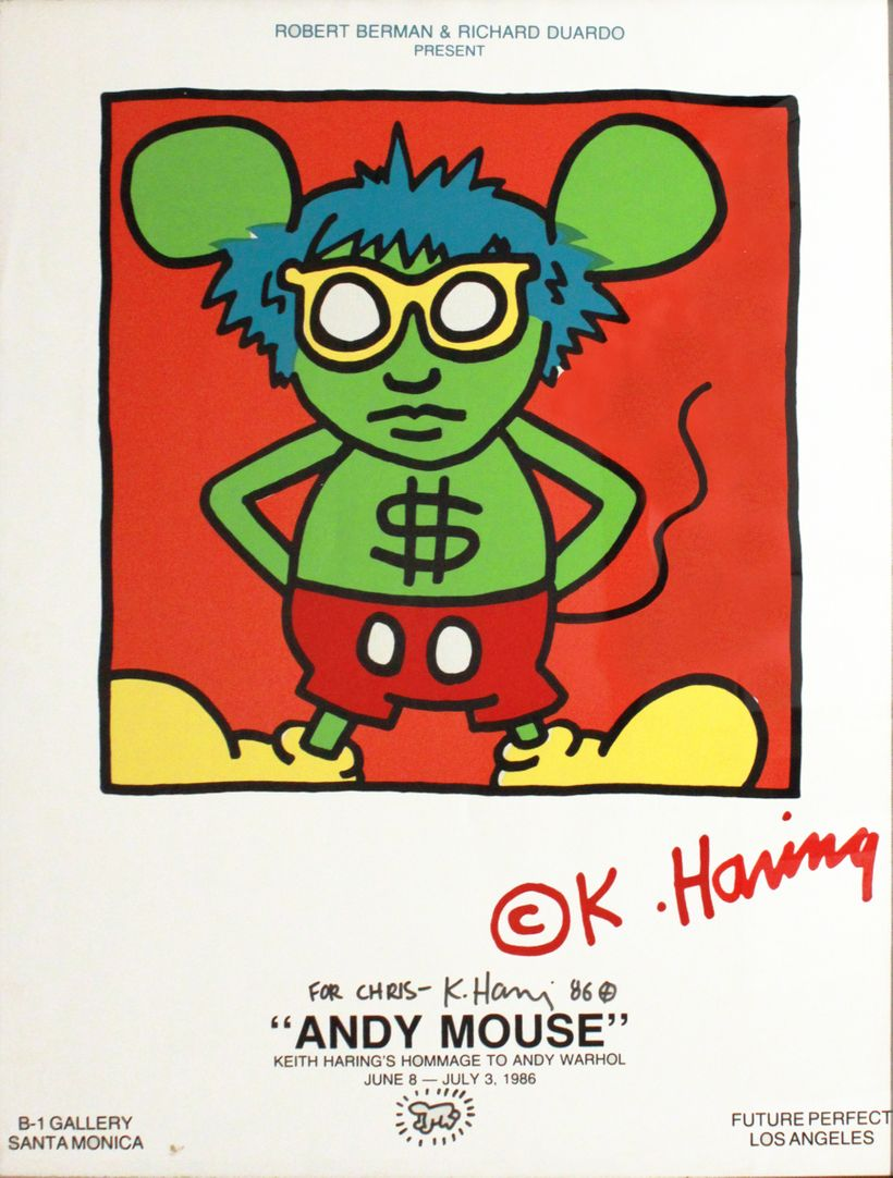 Keith Haring: Andy Mouse, 1986