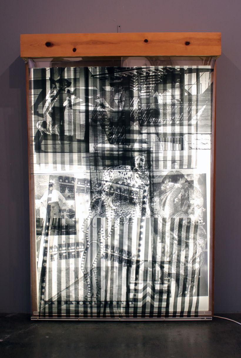 Robert Rauschenberg: Sling Shot Lit #8 (Black State) (GEMINI 41.165), 1985