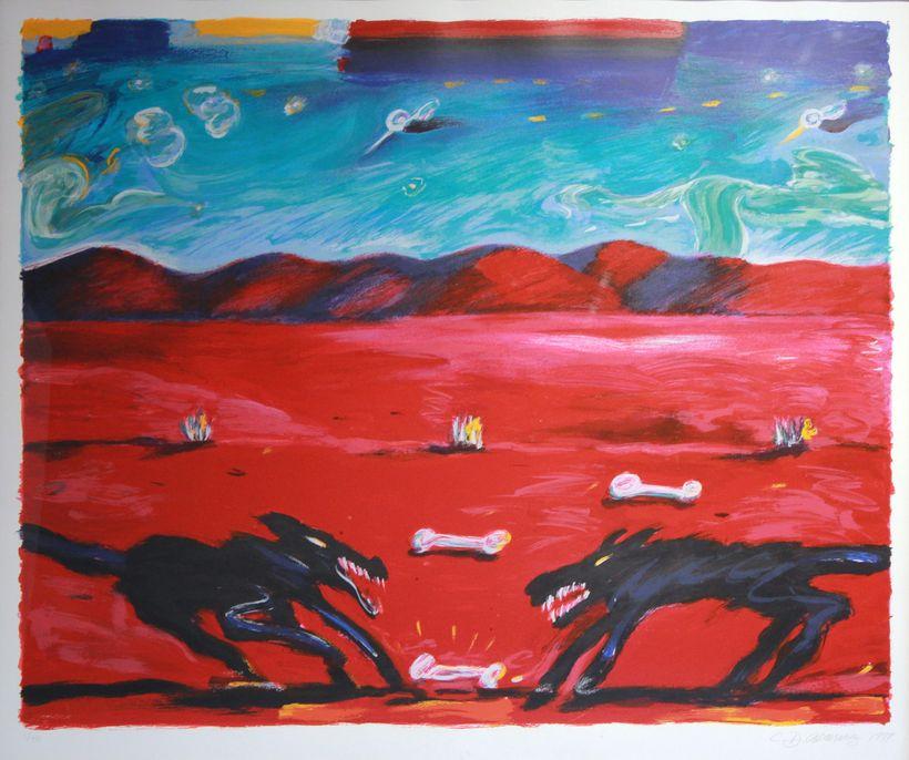 Carlos Almaraz: Greed, 1989