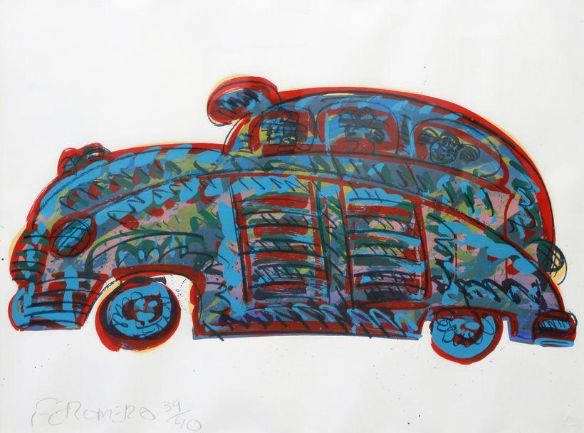 Frank Romero: Car, c. 1980
