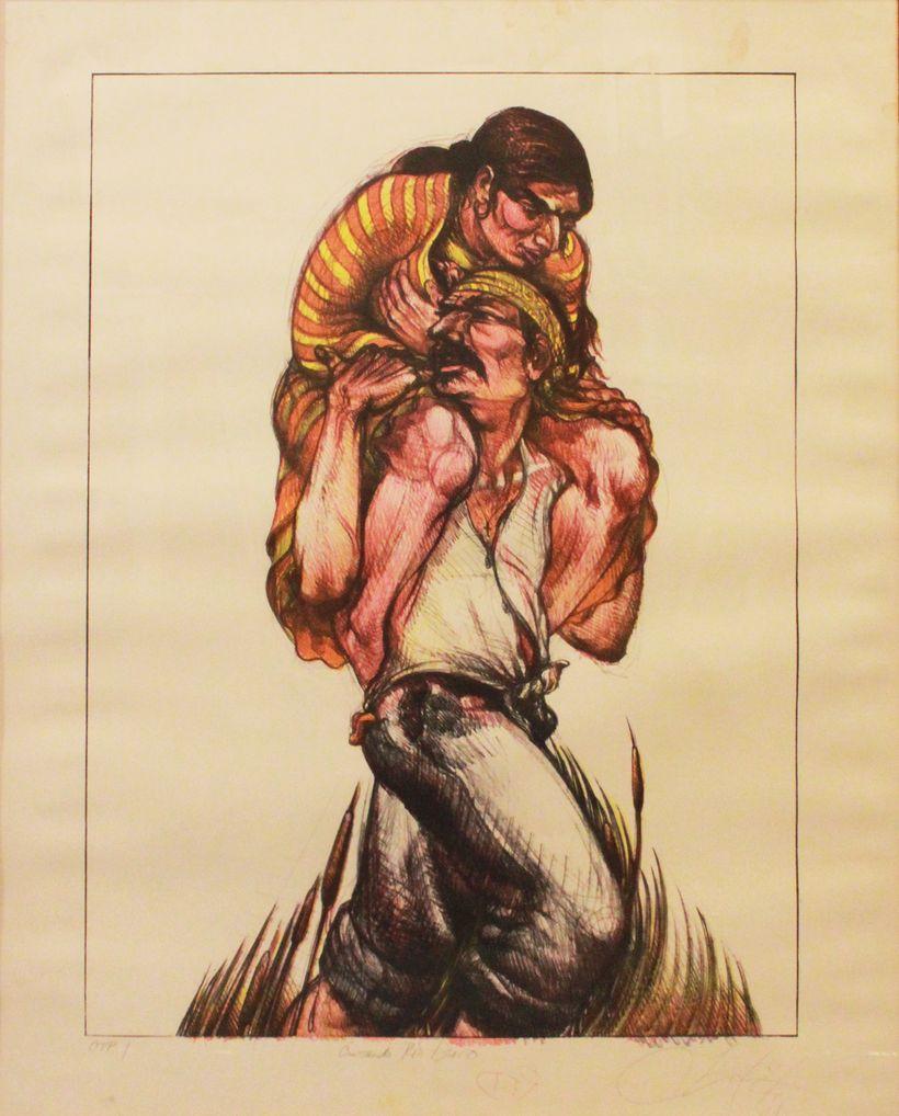 Luis Jimenez: Cruzando el Rio Bravo (Border Crossing), 1984