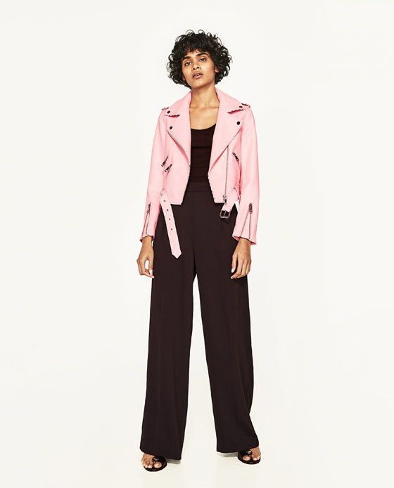 The Zara Pink Biker Jacket Is Making A Comeback, And It's Already All Over