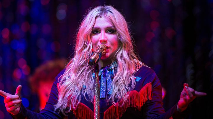 Kesha performing onstage on March 30.