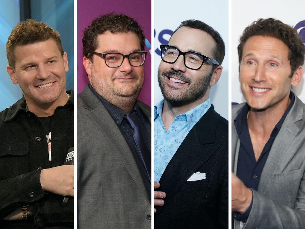 "From left, ""SEAL Team"" star David Boreanaz, ""Me, Myself & I"" star Bobby Moynihan, ""Wisdom o"