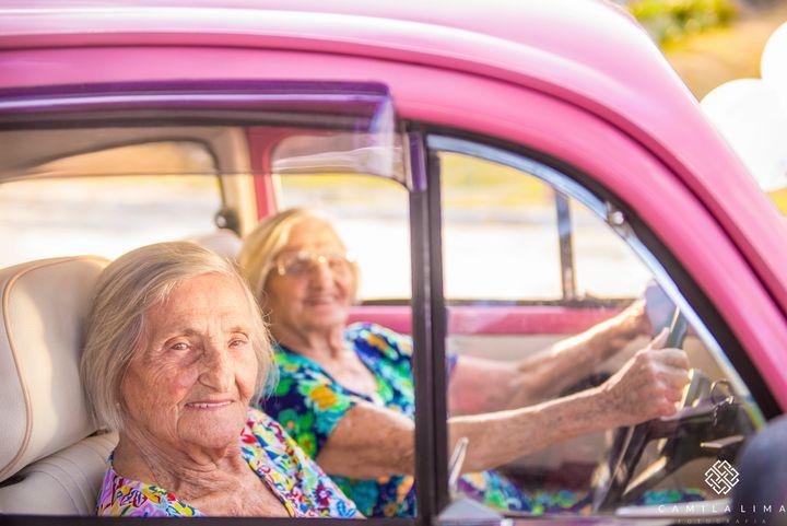 Sweet ride, ladies.