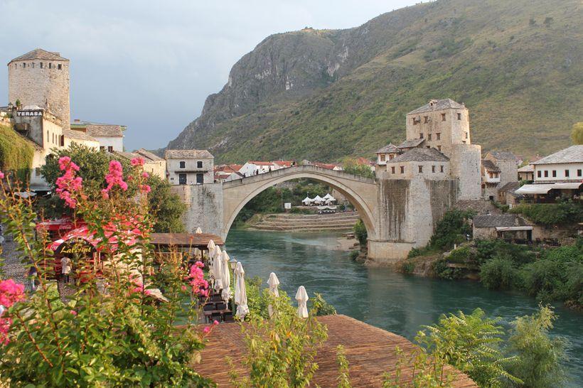 The rebuilt Mostar Bridge in 2010.