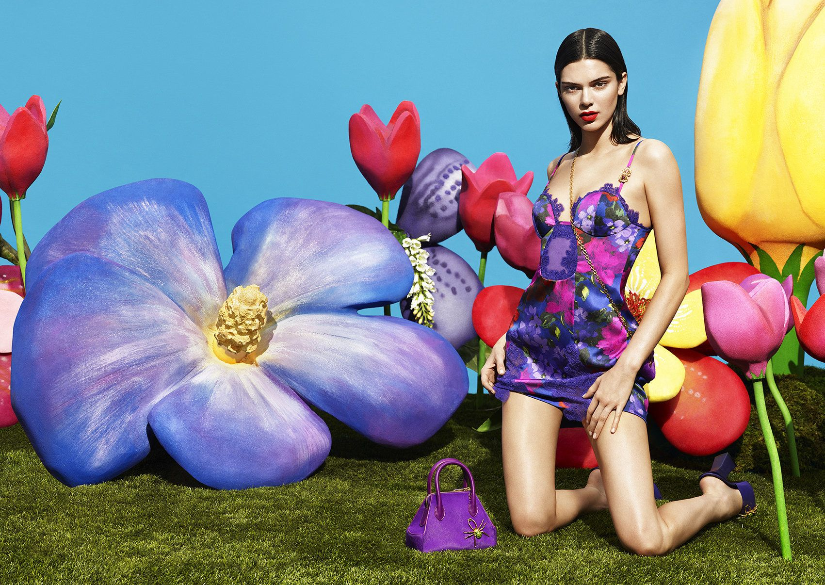 Kendall Jenner Stars In La Perla's Latest Lingerie Campaign, And It's A Floral