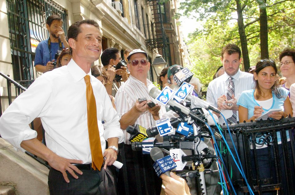 Rep. Anthony Weiner, who was facing a possible run-off election with Fernando Ferrer for the Democratic mayoral nomination, c