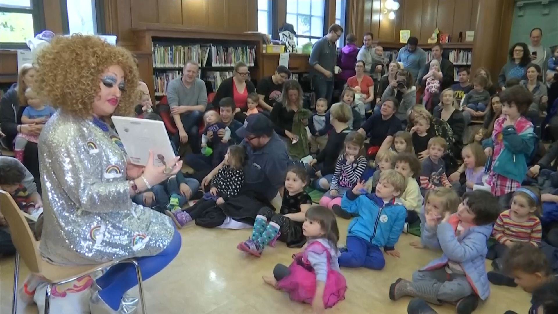 The Brooklyn Public Library holds Drag Queen Story Hour once a month