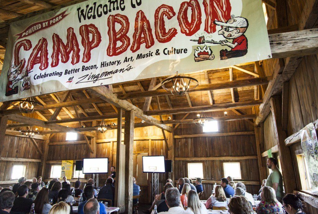 Opening ceremonies commence at last year's Camp Bacon in Ann Arbor, Michigan.