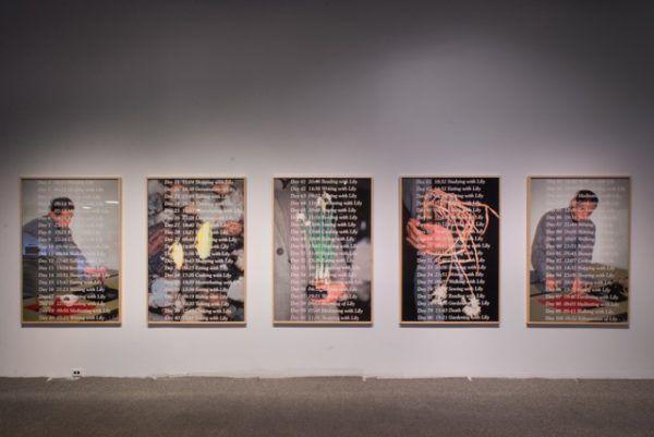 LEE MINGWEI (b. 1964); 100 Days with Lily (series); 1995 / 2017; Silver dye bleach prints (ilfochrome); 5 pieces, 166.5 x 115