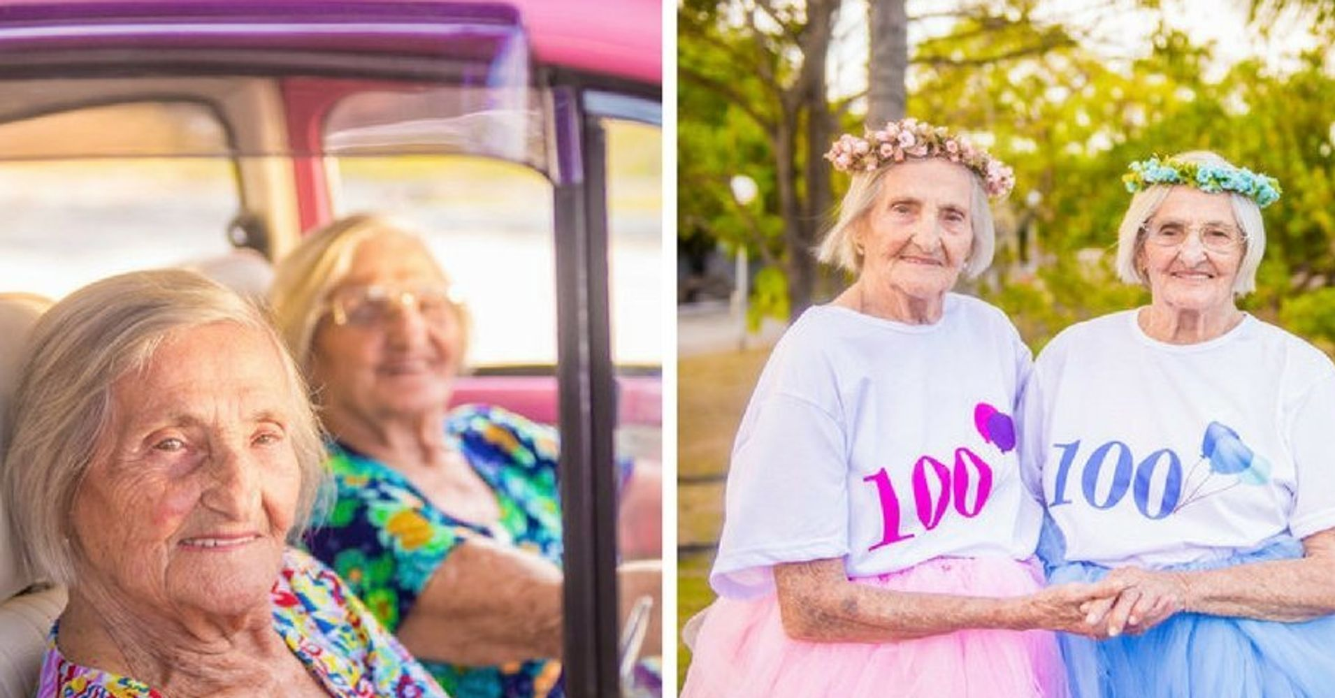 100-Year-Old Twins Mark Birthday With A Sassy, Tutu-Filled Photo Shoot
