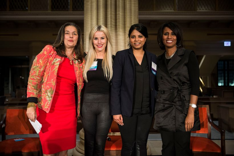 Chicago Innovation's <em>Celebrating Women in Innovation</em>. Ana Dutra, Katy Lynch, Andrea Sreshta, Phyllis Lockett.