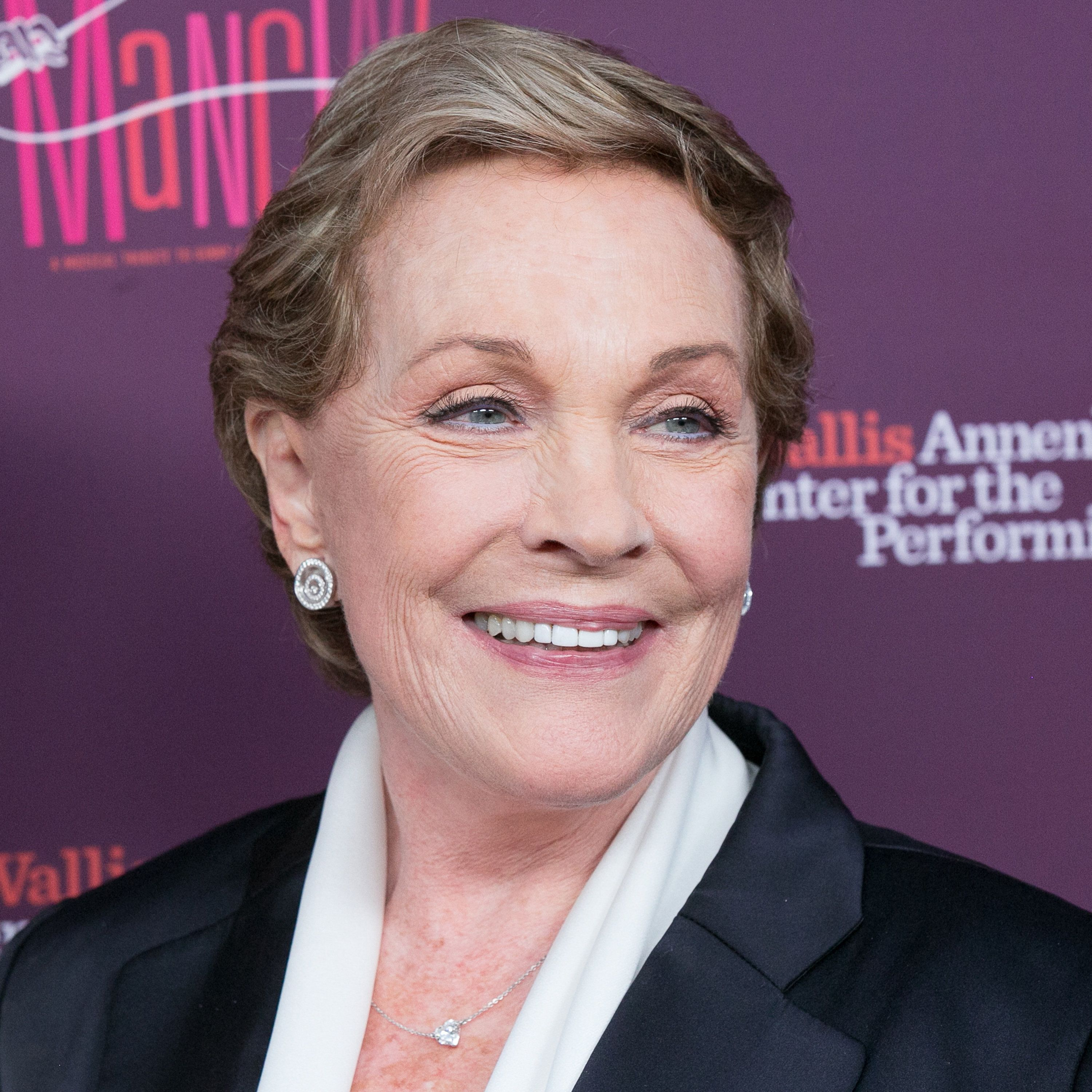 BEVERLY HILLS, CA - APRIL 01:  Julie Andrews arrives for Mancini Delivered - A Musical Tribute to Ginny and Henry Mancini at Wallis Annenberg Center for the Performing Arts on April 1, 2017 in Beverly Hills, California.  (Photo by Gabriel Olsen/FilmMagic)