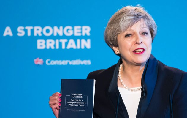 Theresa May unveils her party's