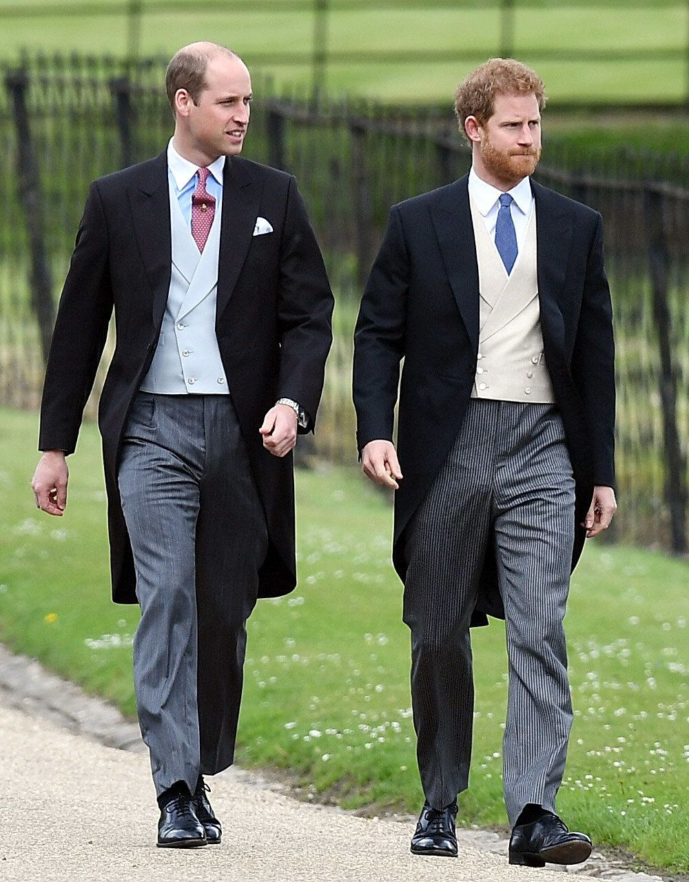 The Duke Of Cambridge And Prince Harry Wear Tails To Pippa Middleton's