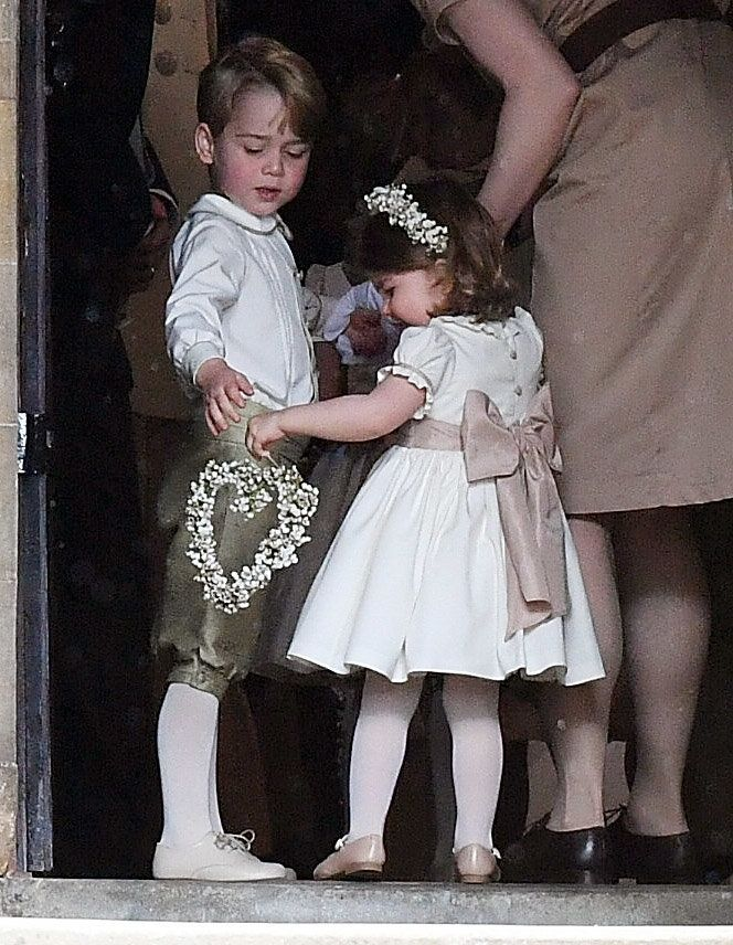 George And Charlotte Share An Adorable Moment Of Sibling Bonding At Pippa Middleton's