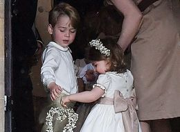 George And Charlotte Share An Adorable Moment Of Sibling Bonding At Pippa Middleton's Wedding