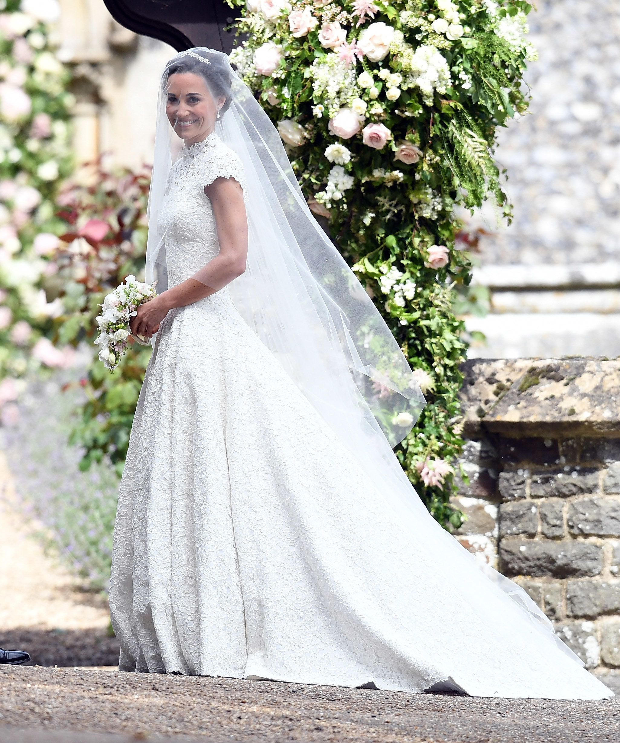 Pippa Middleton's Wedding: The Bride Looks Beautiful In A Giles Deacon