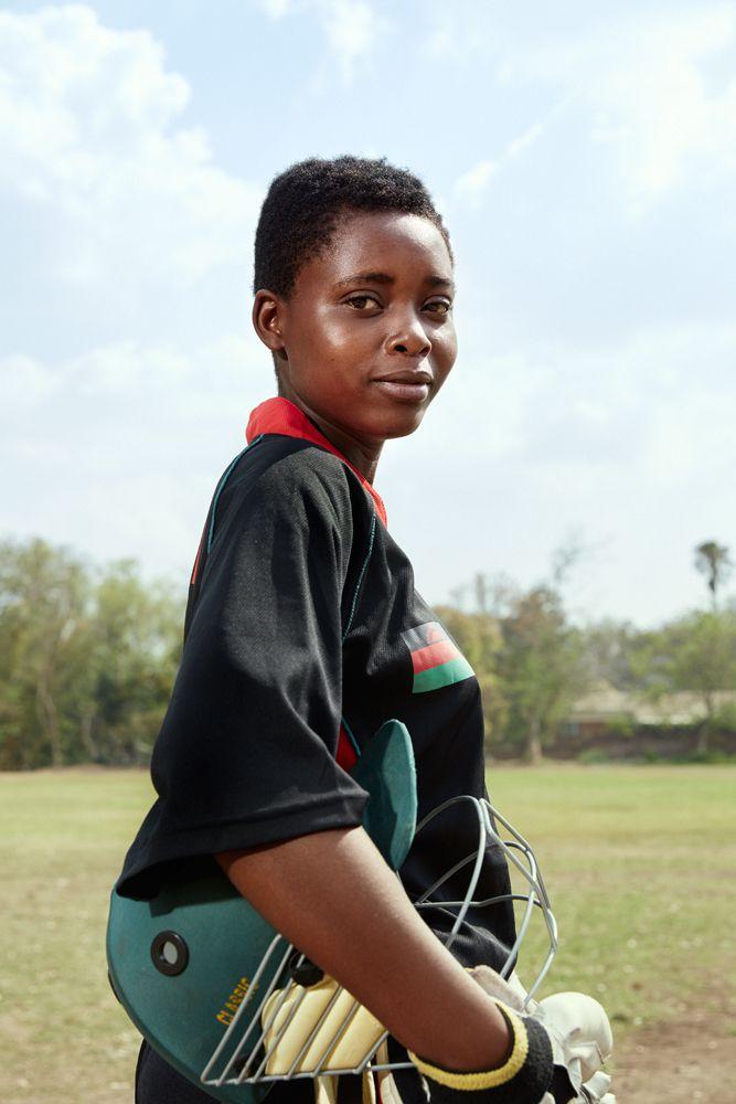 Lydia, allrounder, Malawian U19 Women's Cricket Team, Blantyre, Malawi, 2016.