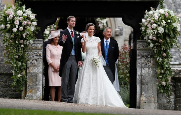 Pippa Middleton and James Matthews after their wedding.