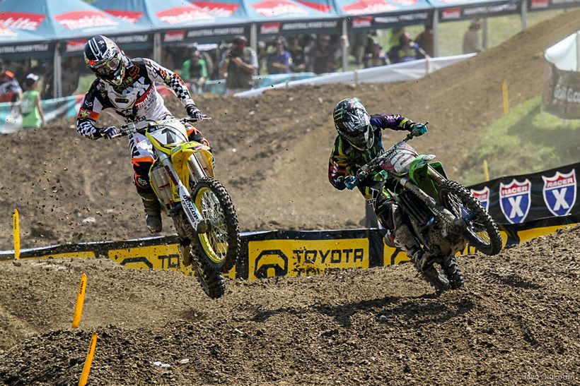 Steel City in 2011 was one of the closest races of Dungey's career. Once again battling Ryan Villopoto (right), the title was