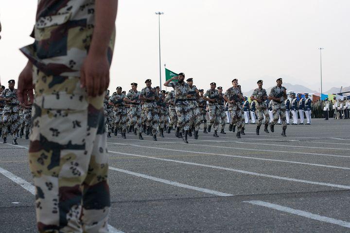 A Saudi military parade