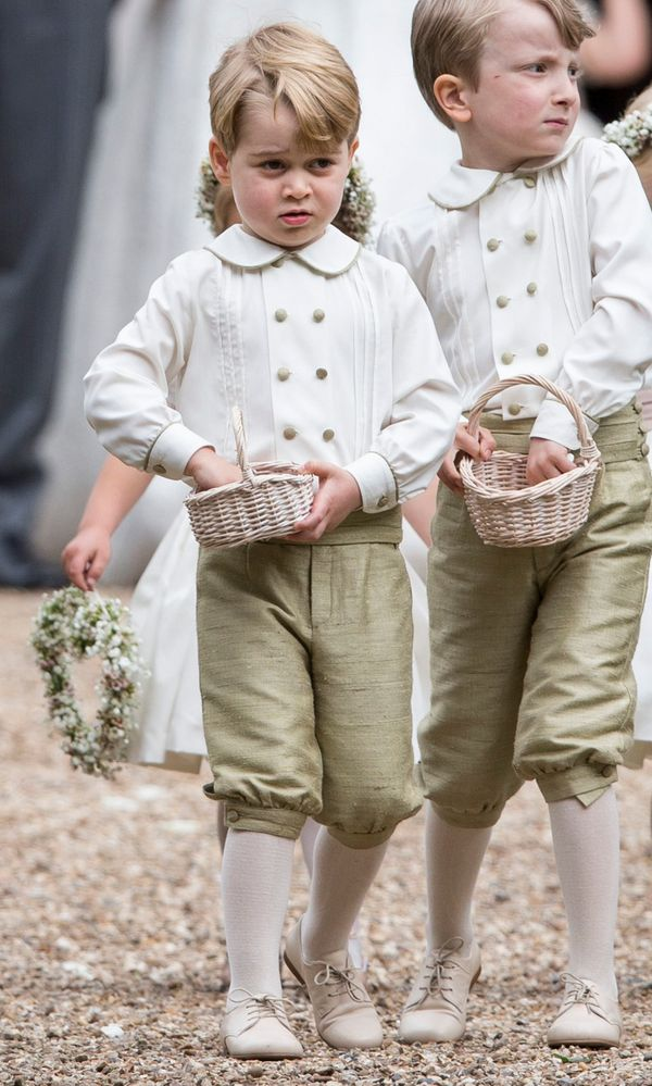 Prince George in his page boy outfit.