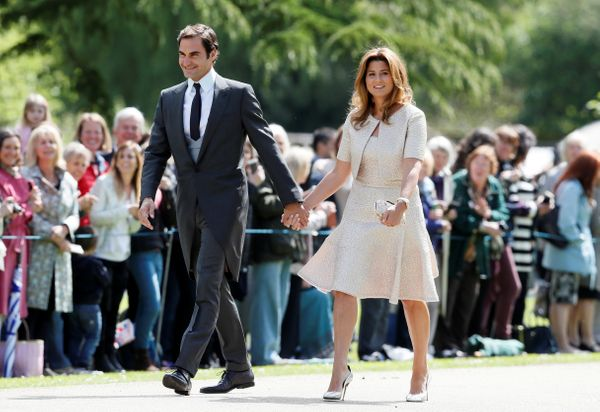 Roger Federer and his wife Mirka Federer.