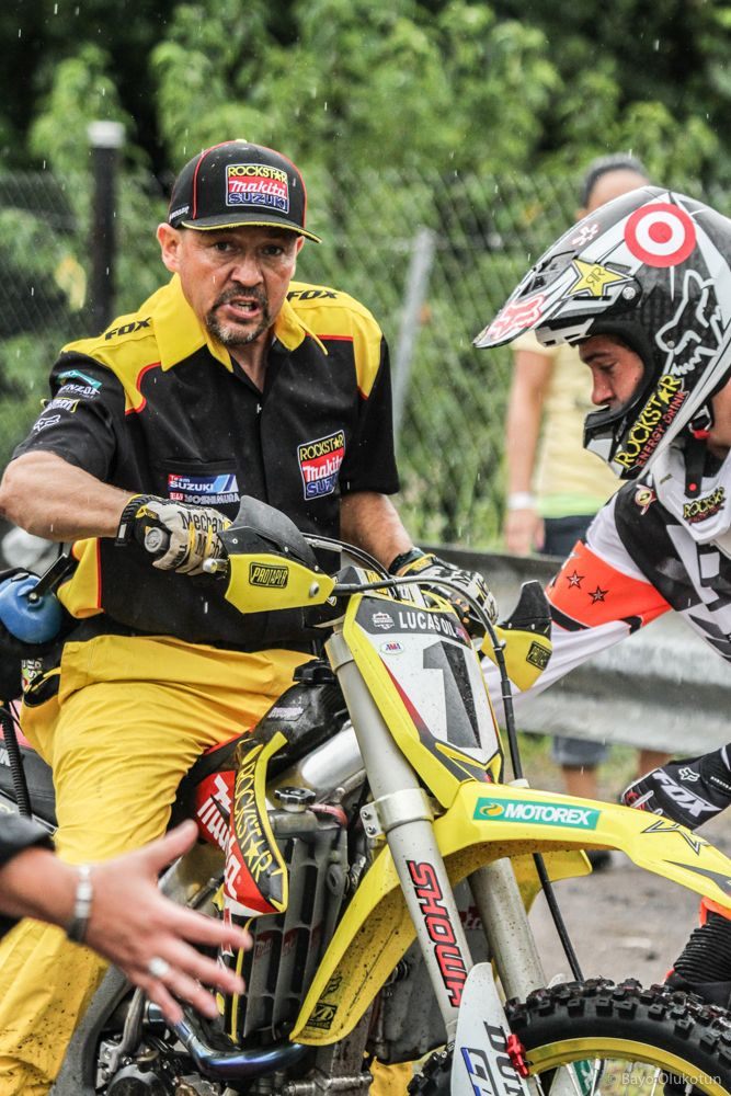 Dungey's 2011 team Suzuki mechanic Mike Gosselaar is well known for his composure, but even the coolest of characters have th