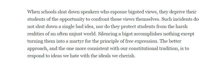 ACLU: Speech on Campus