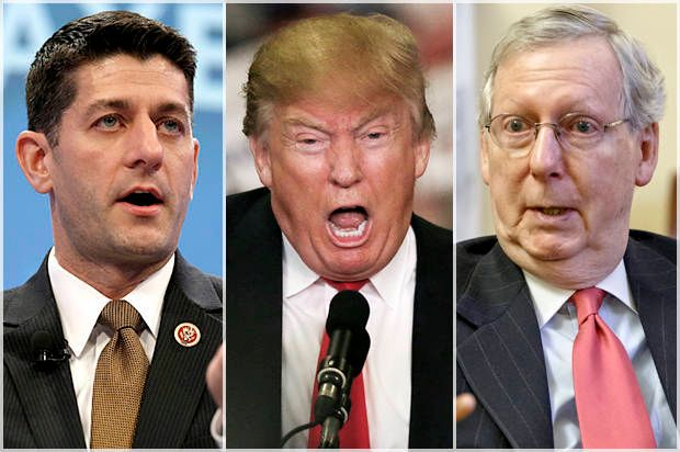Paul Ryan, Donald Trump, Mitch McConnell