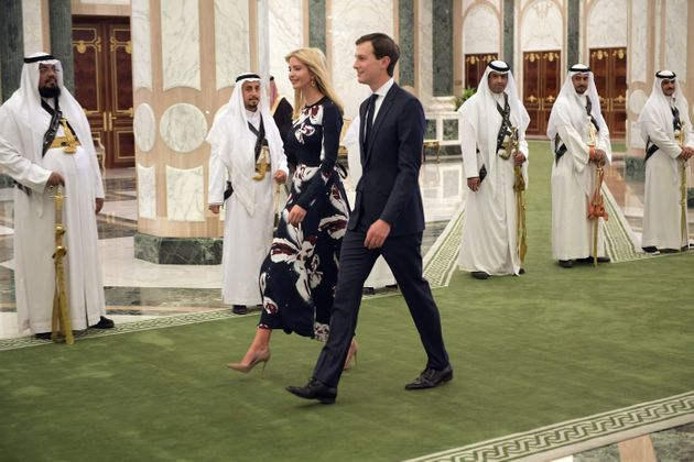 Ivanka Trump and Jared Kushner arrive to attend the presentation of the Order of Abdulaziz al-Saud medal...