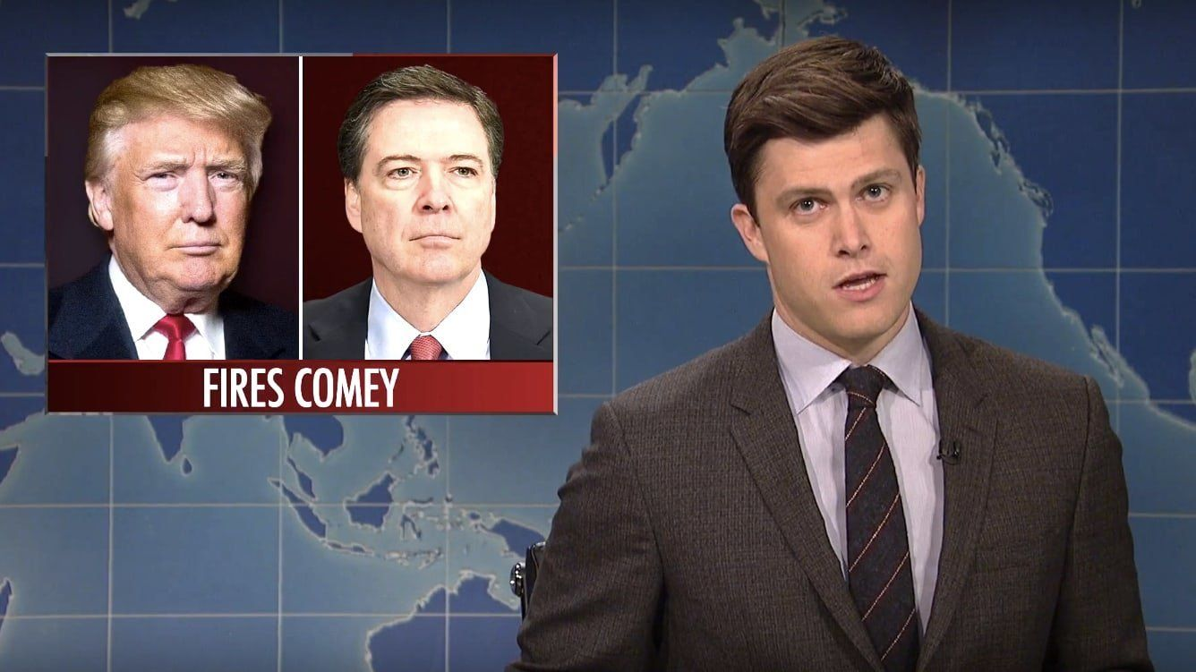 Colin Jost goes after Trump