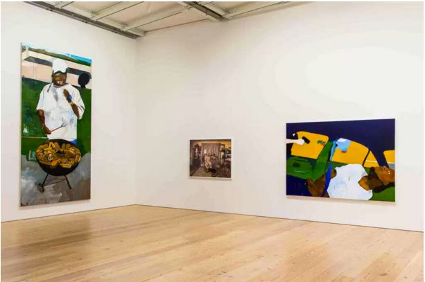 Henry Taylor's work at the Whitney Biennial. Image via Culture Type.